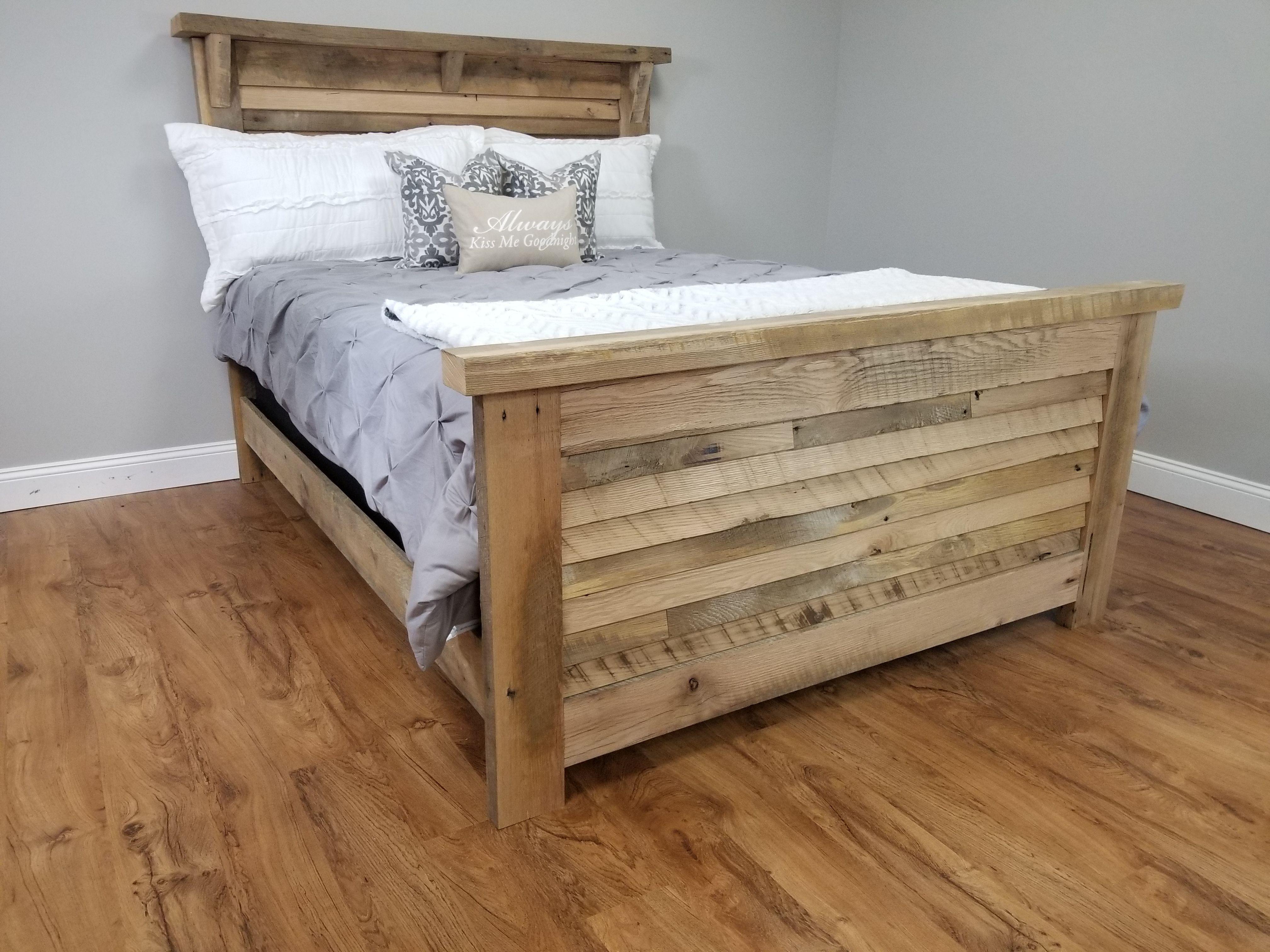 headboard made from laminate flooring