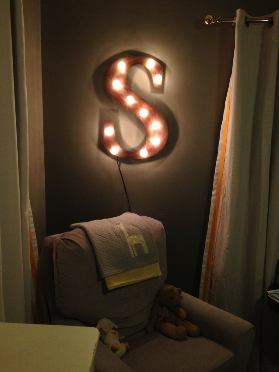 Custom Made Night Light Industrial Letter Wall Hanging