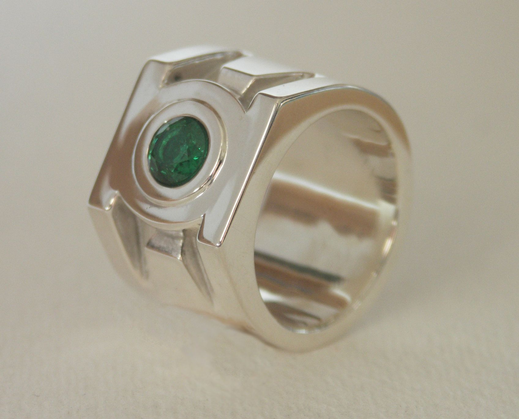Hand Crafted Green Lantern Ring by Third Dimension Jewellery  CustomMadecom