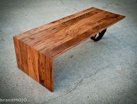 Custom Made Wheeled Waterfall Coffee Table by Brandmojo ...