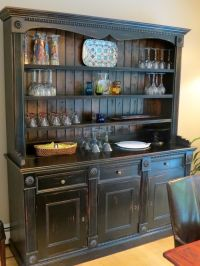 Hand Crafted Custom Black Rustic China Cabinet From ...