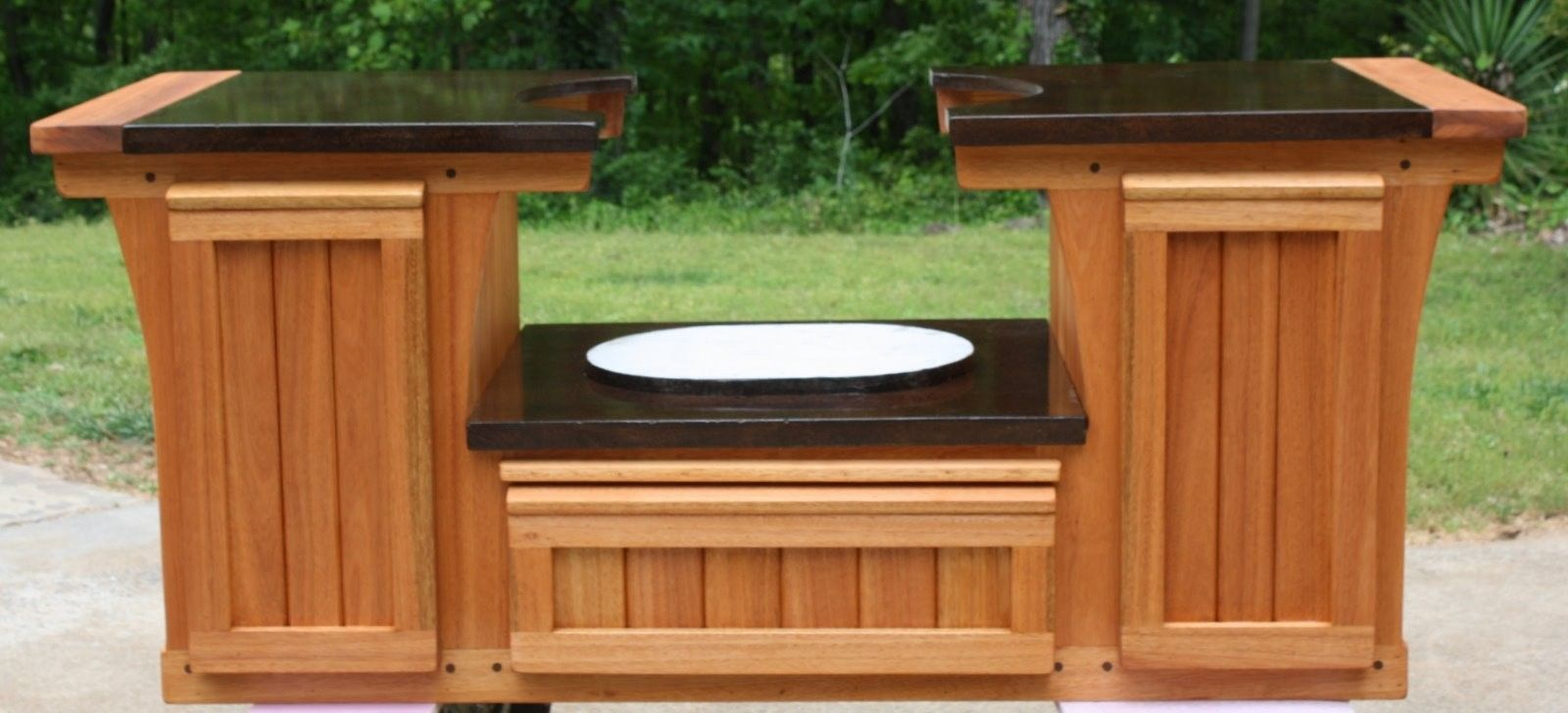 Hand Crafted Primo Table Cabinet Brazilian by Deck Kitchen