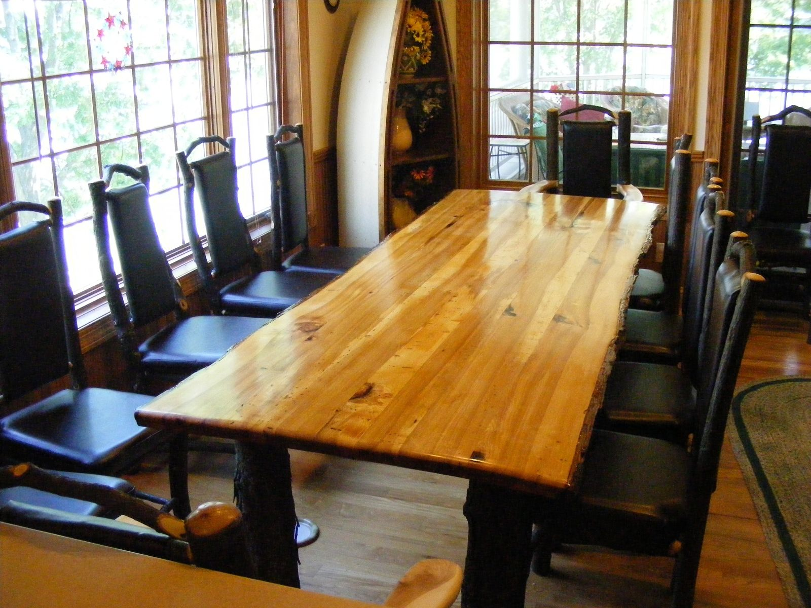 Handmade Rustic Hickory Table by Opas Custom Woodworking