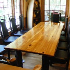 Kitchen Table With 4 Chairs 2 Seater Set Handmade Rustic Hickory By Opa's Custom Woodworking ...