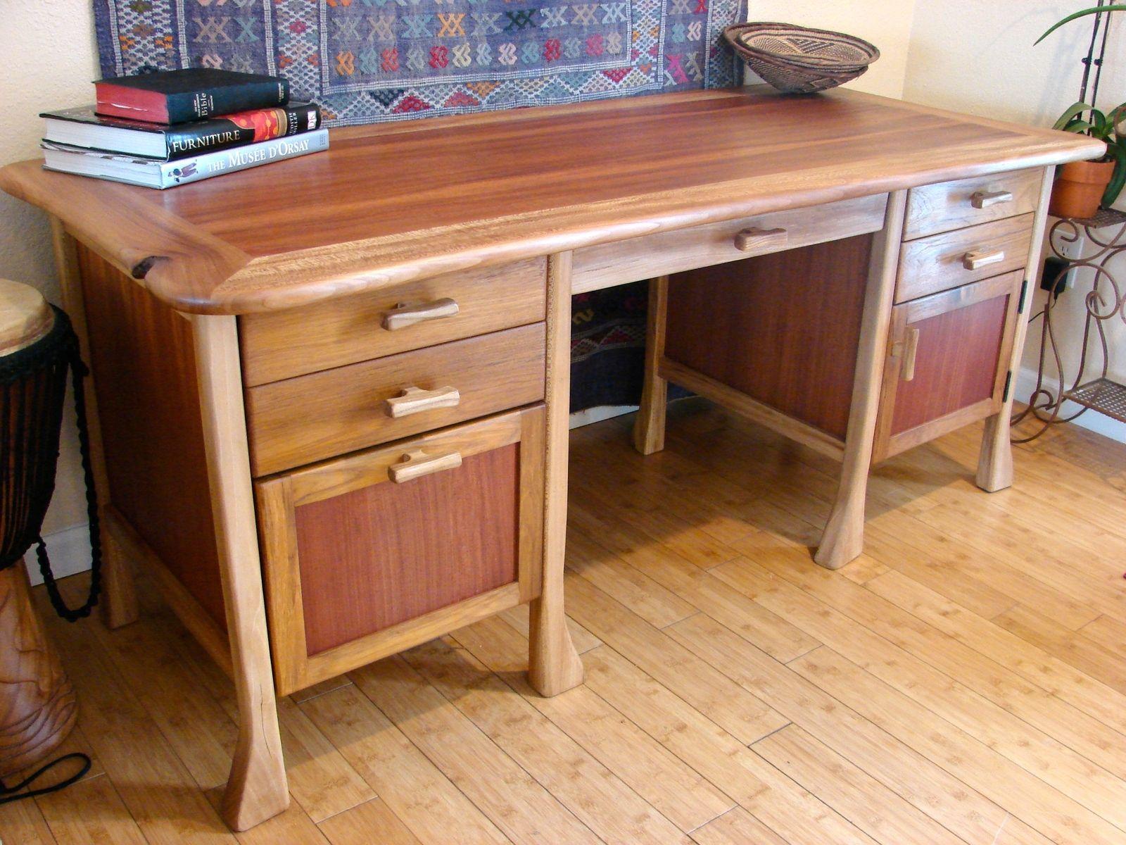 Custom Made Asian Style Computer Desk by Jeff Davis
