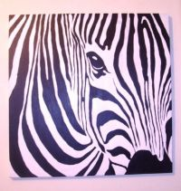 Handmade Custom Made Zebra Acrylic Painting by Big Bang ...