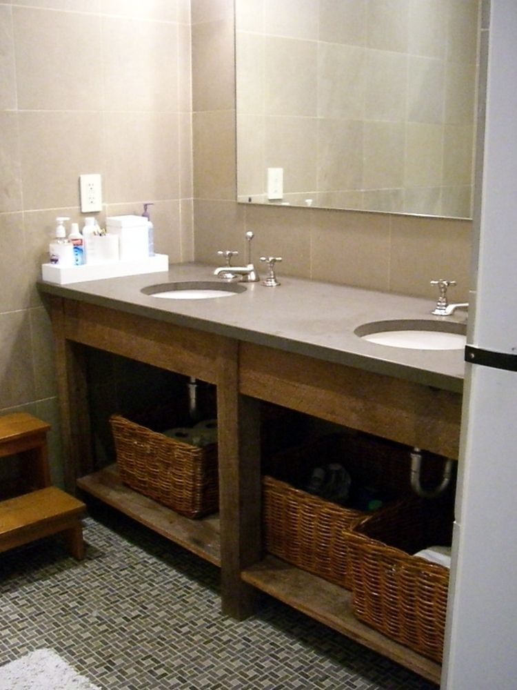 Hand Crafted Custom Bathroom Vanities All Using Recliamed