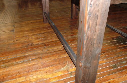 pub style kitchen table sink faucet repair custom reclaimed wood farmhouse / industrial height ...