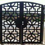 Buy A Custom Contemporary Dual Entry Metal Gate Ornamental