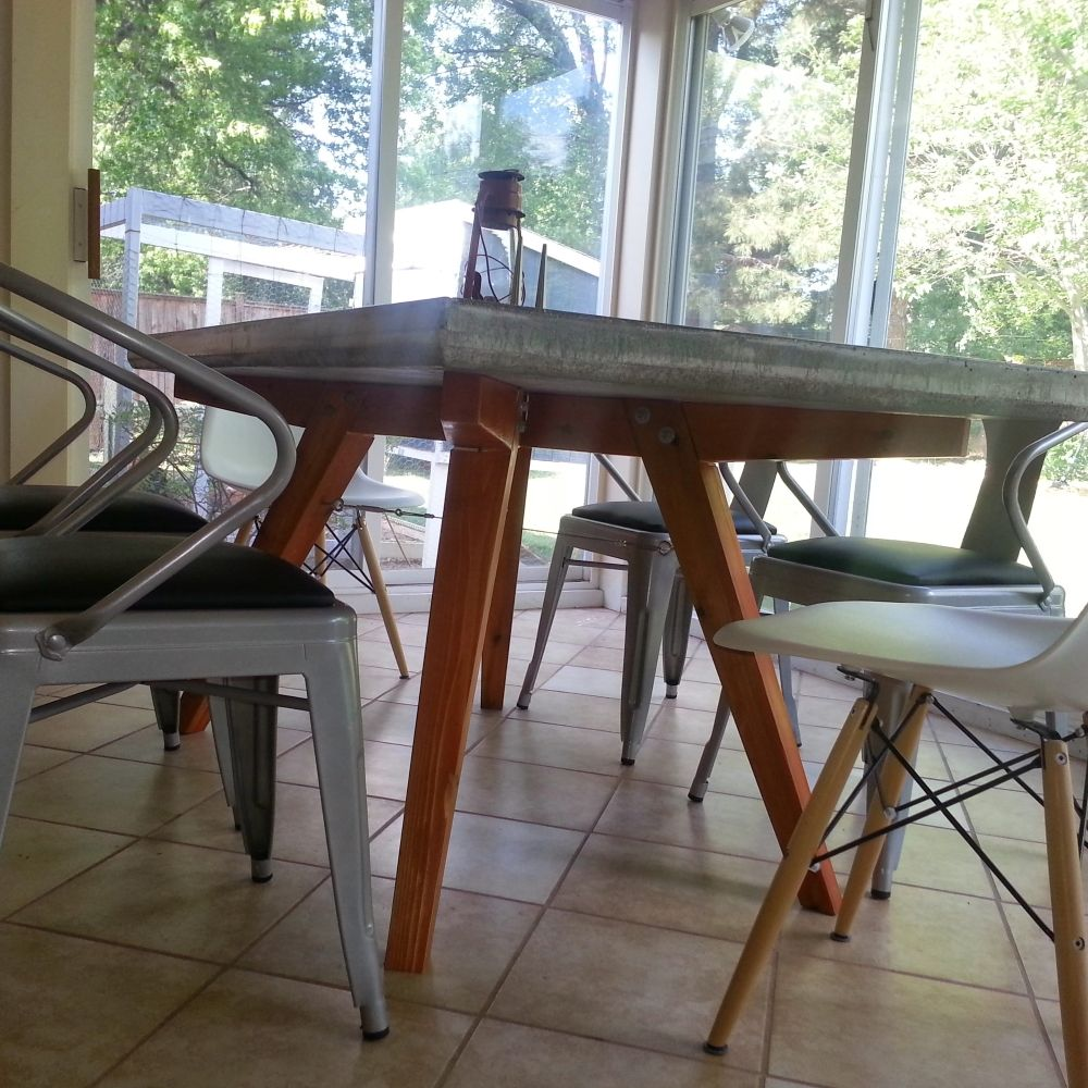 Hand Made Concrete PatioDining Table By Mike Made