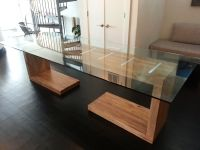 Hand Crafted Glass Top Dining And Side Table by AJC ...