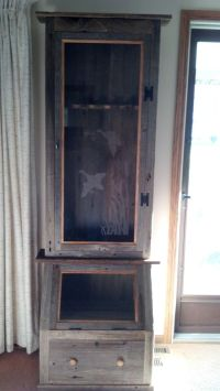 Hand Crafted Barn Wood Gun Cabinet by Rats Wood Creations ...