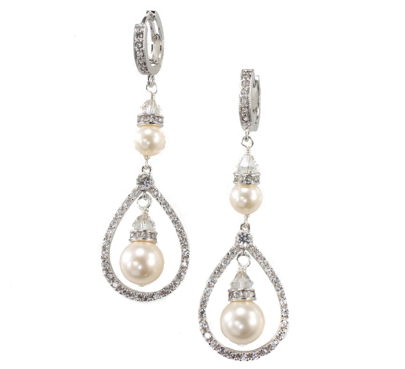 Buy a Hand Crafted Ivory Pearl Drop Earrings