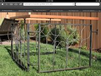 Hand Crafted Artistic Steel And Wood Fence by Edison ...