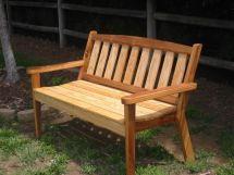 handmade cypress garden bench