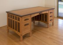 Custom Craftsman Desk Hefner Woodworking Sorkin