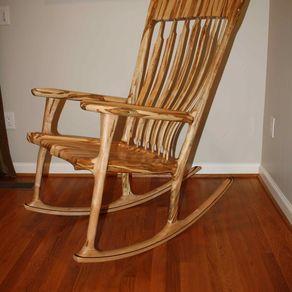 handmade rocking chairs adirondack at lowes custom custommade com deja vu ambrosia maple chair