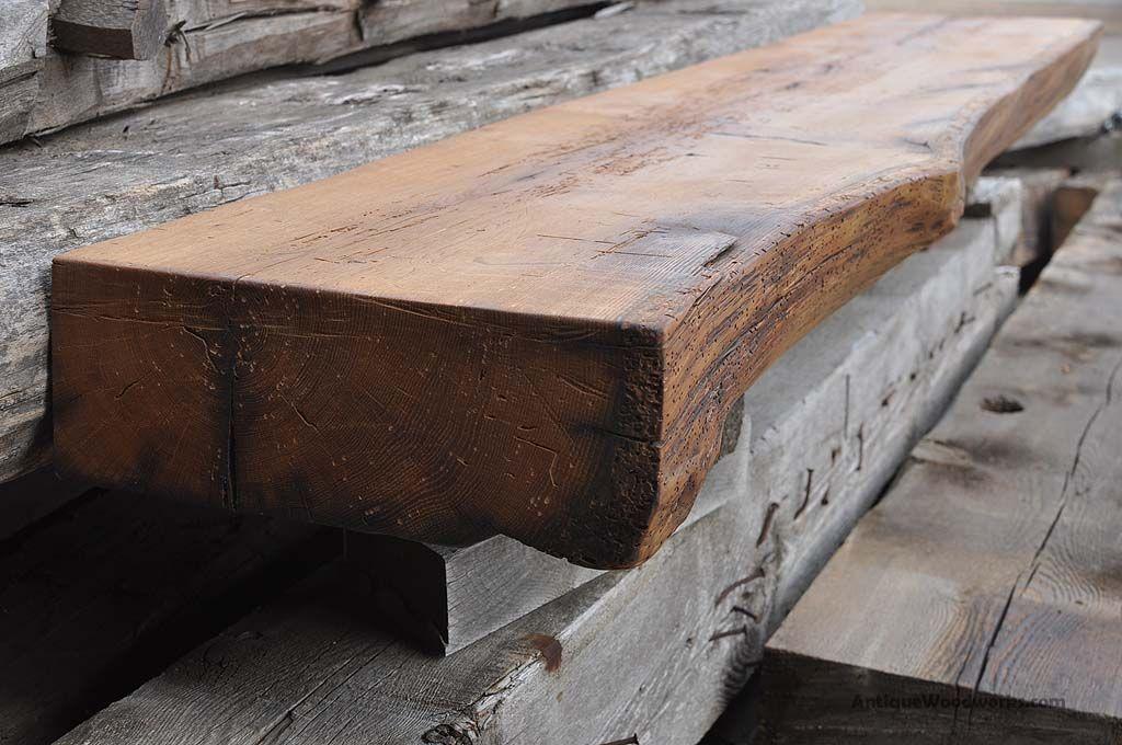 Custom Rustic Fireplace Mantel Shelf Cut Oak Tree Like