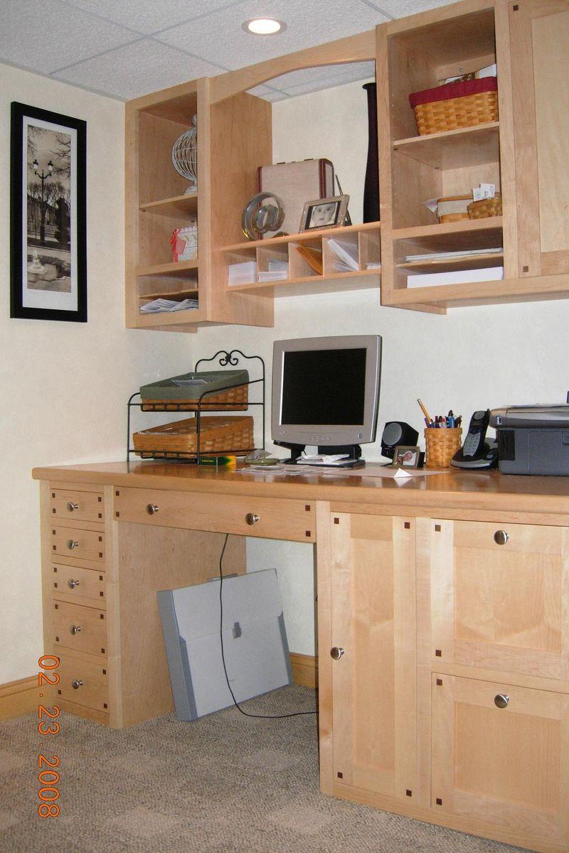 Custom Built In Computer Desk by Joeys Custom Woodworking