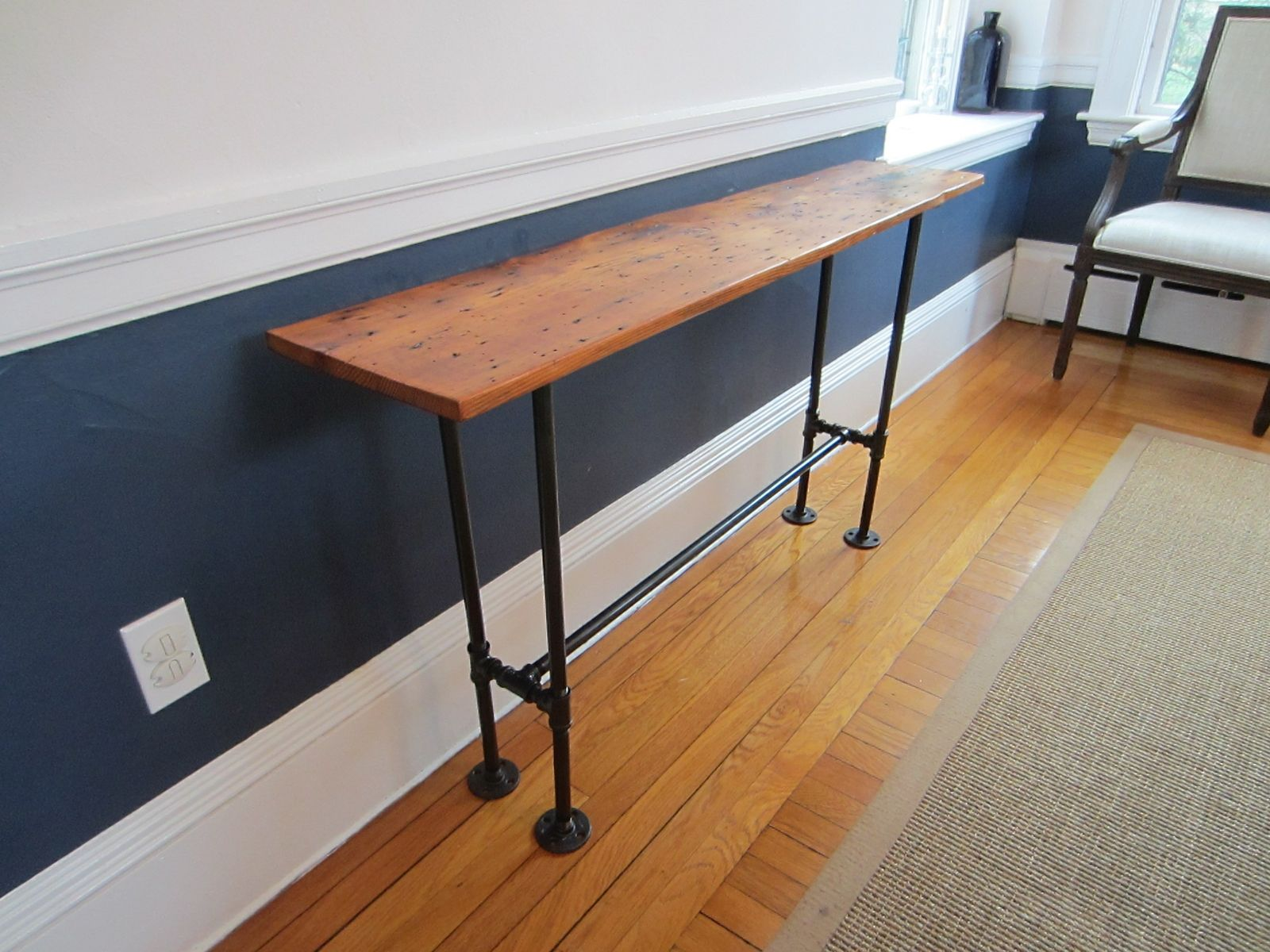 custom made sofa tables comfortable leather sectional sofas barnwood console table by john gaines woodworking