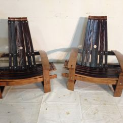 Wine Adirondack Chair Tan Leather Office Buy Handmade Barrel Stave Chairs Made To