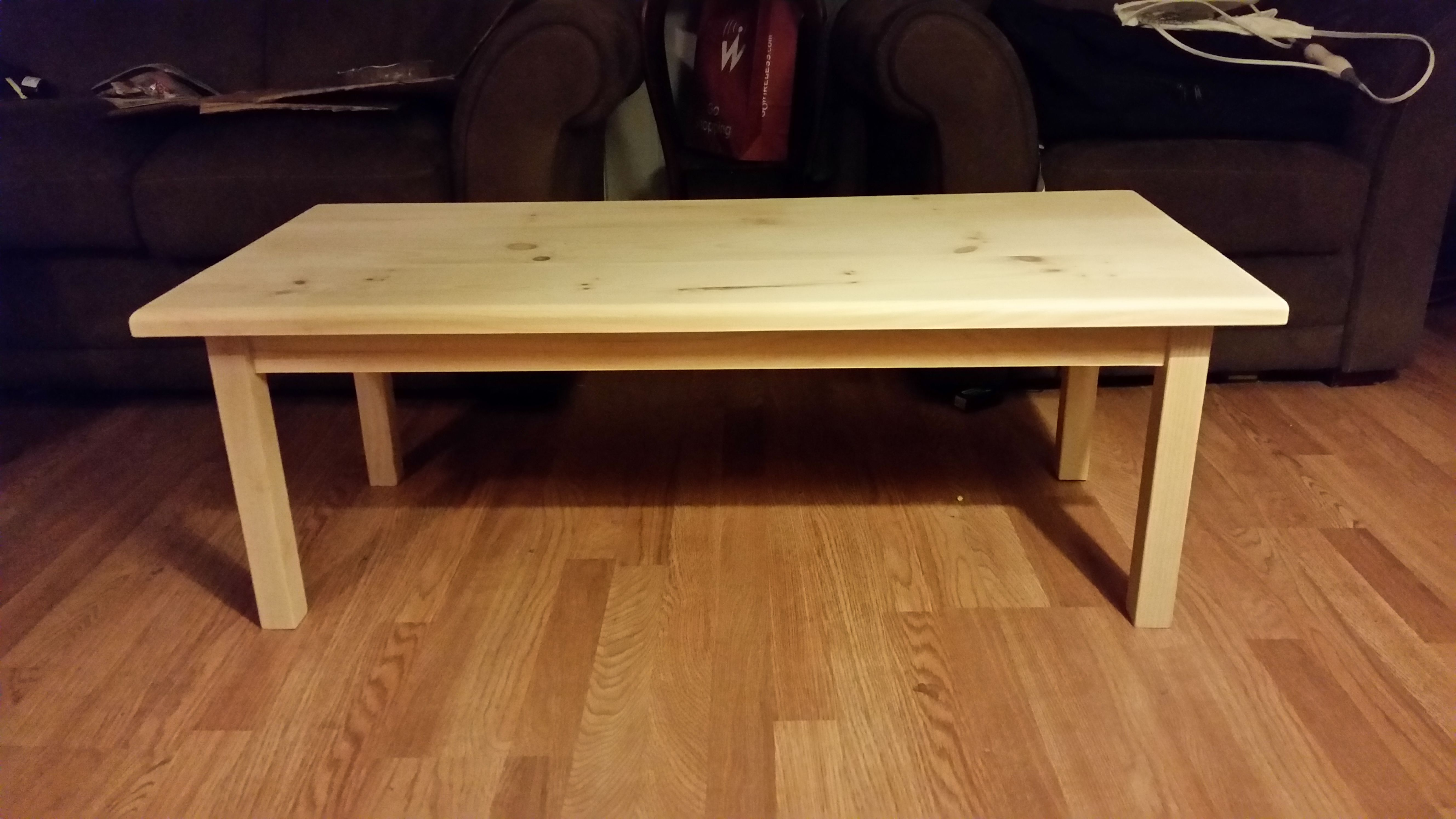 Buy a Custom Unfinished Pine Coffee Table made to order