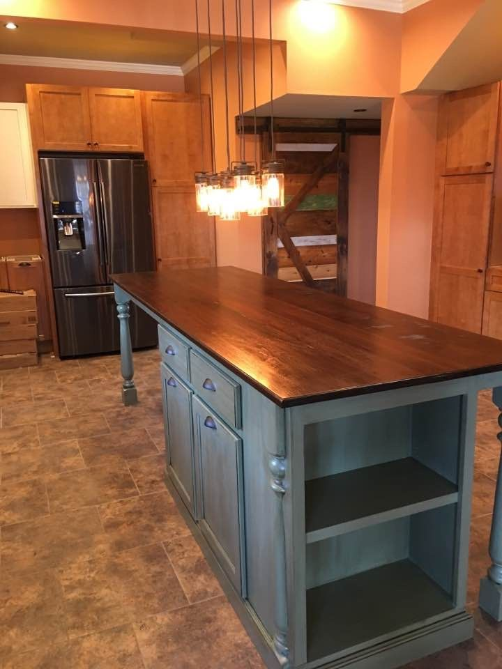 Hand Made Kitchen Island With Seating by Worthys Run
