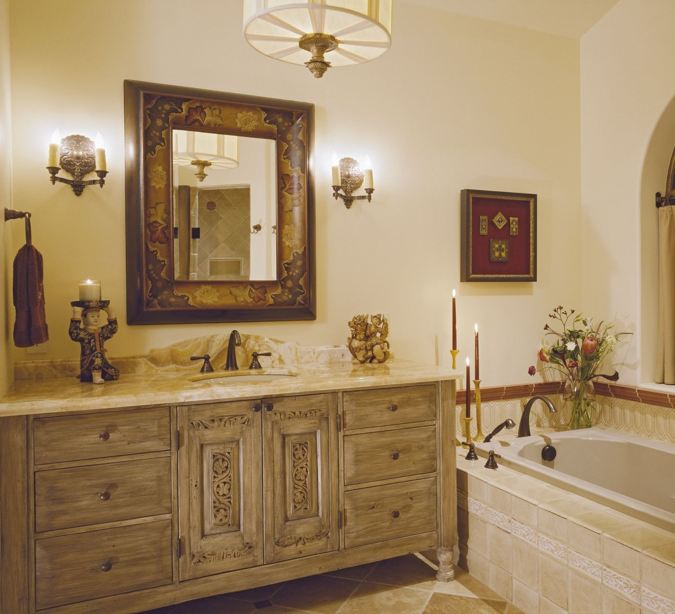 Hand Made Bathroom Vanity Cabinetry  2nd Master Bath by Tilde Design Studio  CustomMadecom