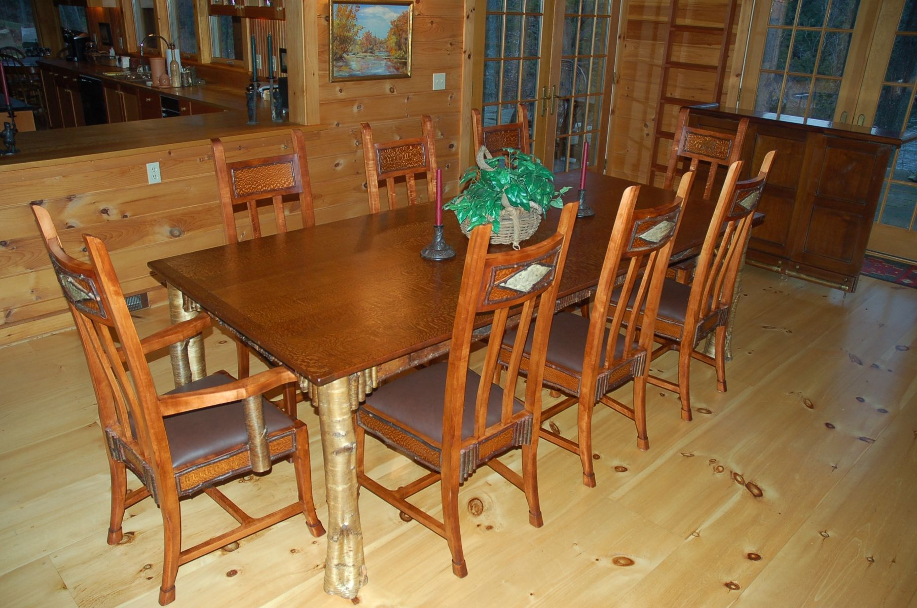 adirondack style dining chairs chair design malaysia custom great camps room by louchheim made