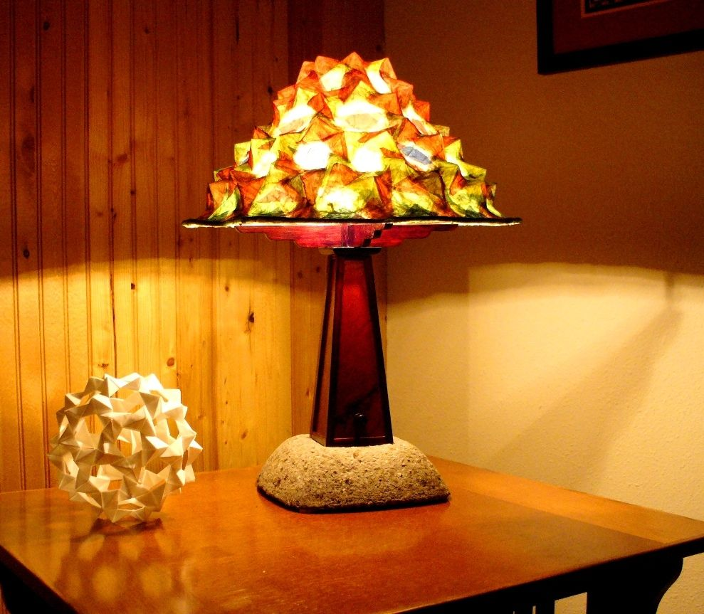 Custom Craftsman Style Table Lamp by Golden Heart