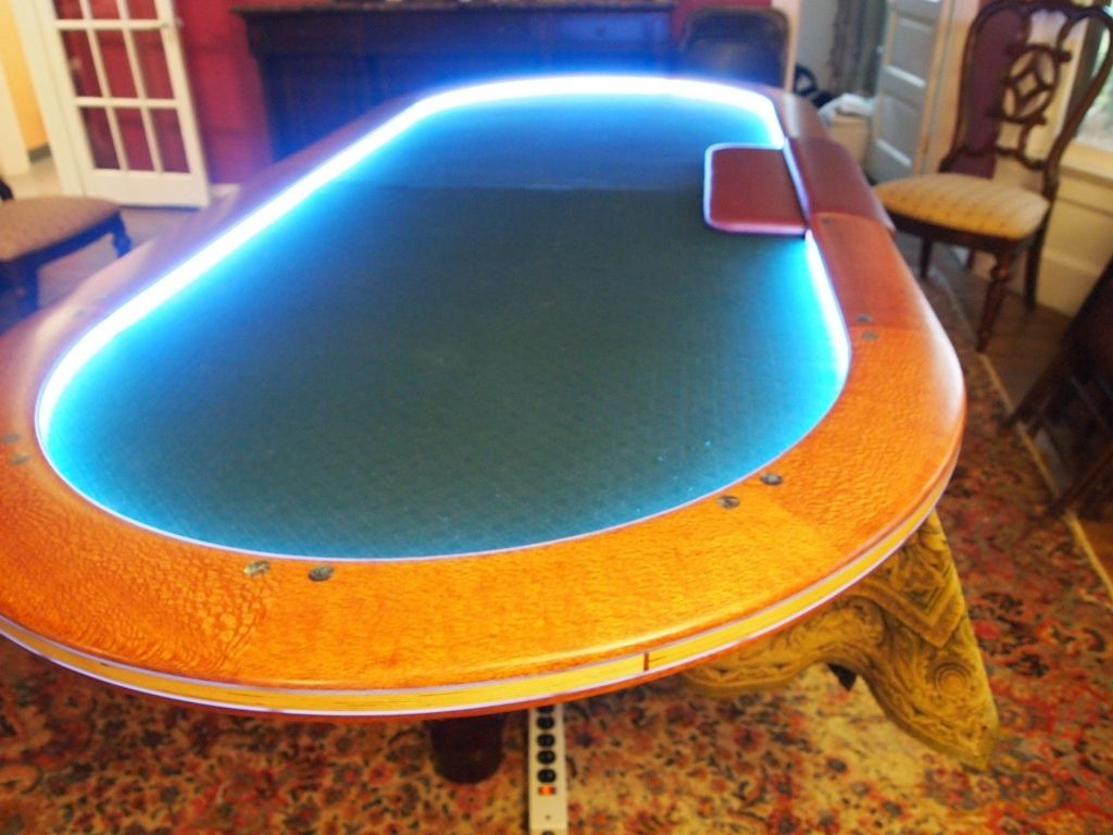 Custom Lacewood Texas Hold Em Table by Willamette Bluff