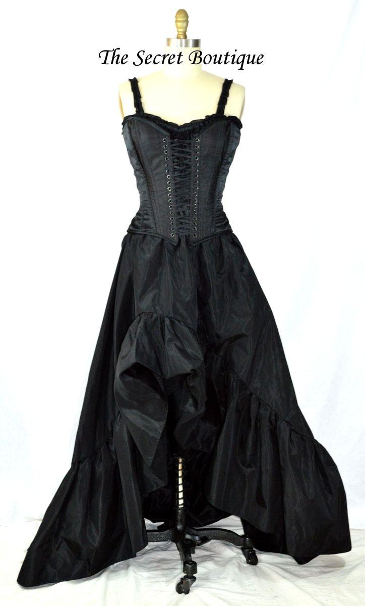 Custom Made Black Romantic Victorian Wedding Dress By The Secret Boutique