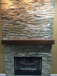 Buy a Hand Crafted Walnut Modern Fireplace Mantel., made ...