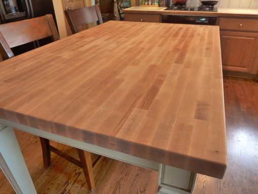 kitchen island and table red trash can hand made butcher block by parker custom ...