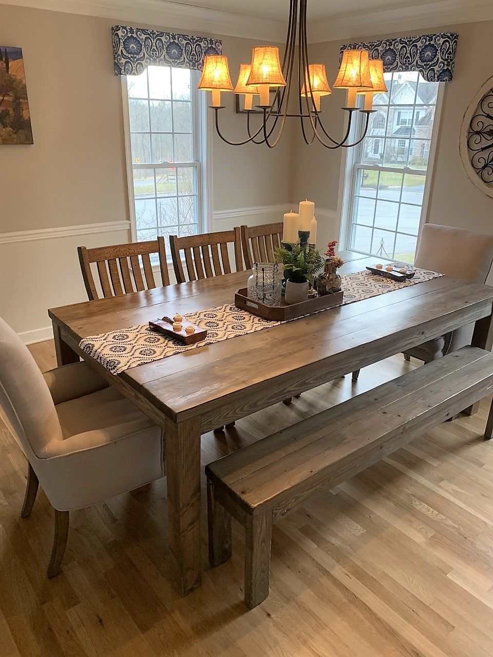 Custom Made Rustic Farmhouse Dining Table And Sets By Jer S Rustic Creations Custommade Com