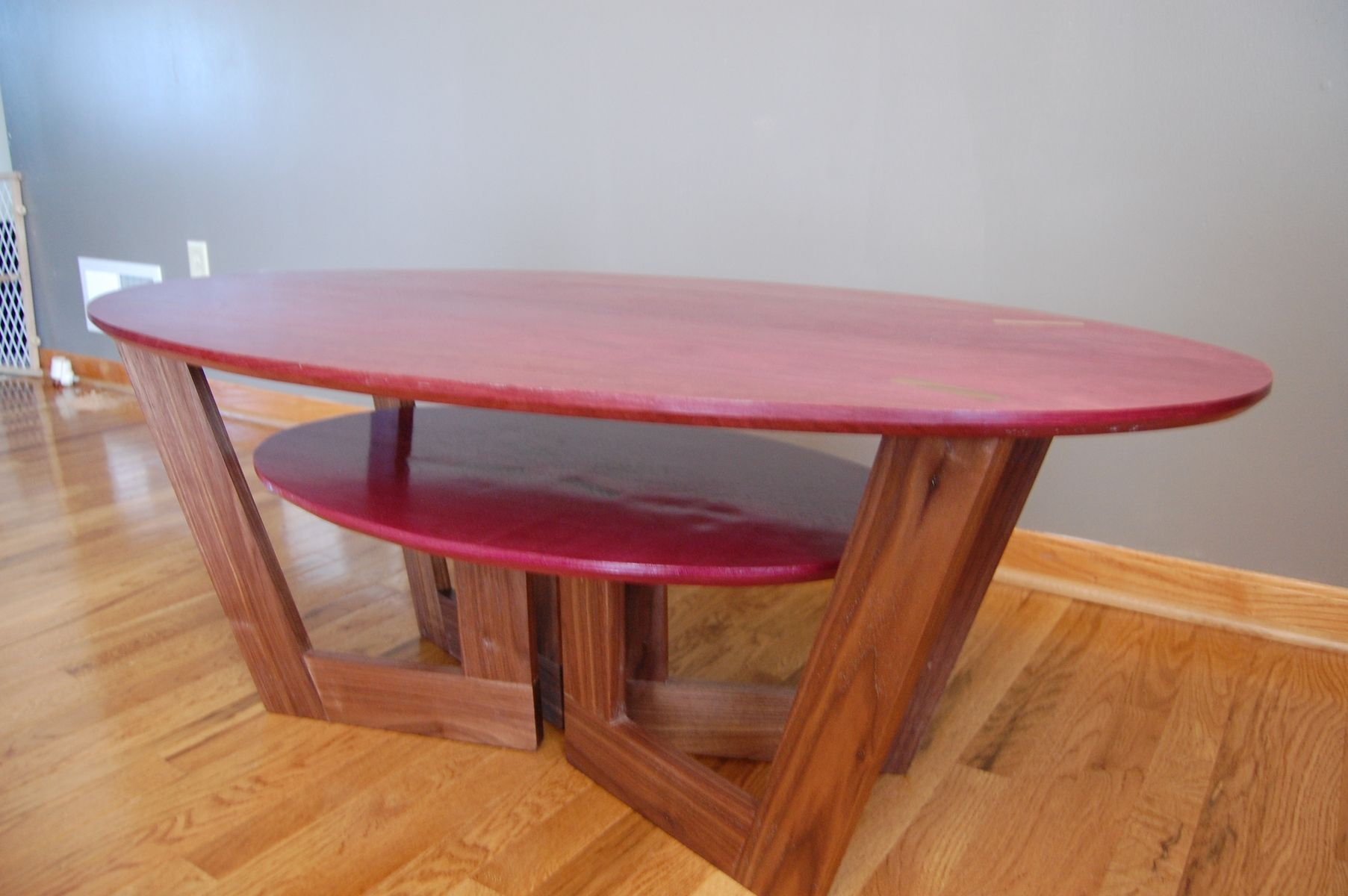 Custom Purpleheart Coffee Table by Clark Mcgill Furniture