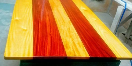 kitchen table colors walnut cabinets buy a hand crafted solid padauk and yellow heart wood ...