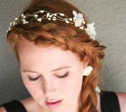 hand wedding hair rustic