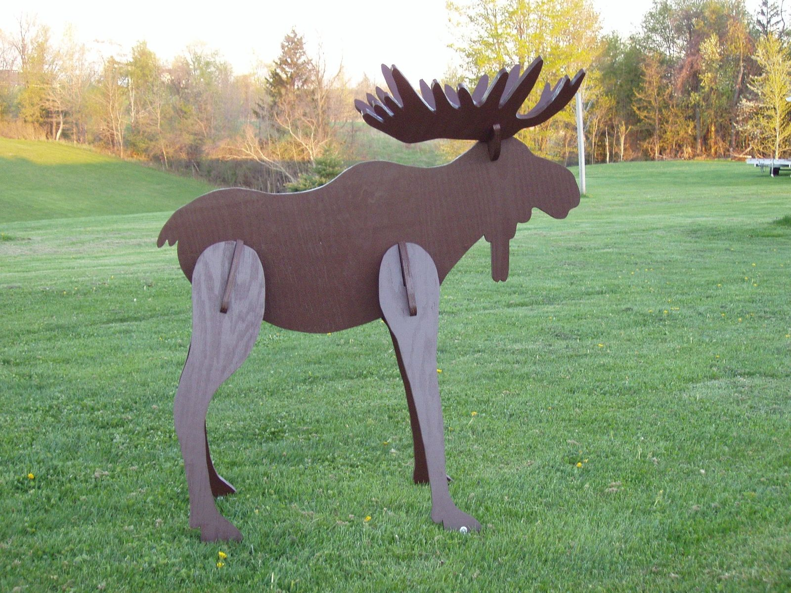 Hand Crafted Lawn Moose Decoration by Windy Woods Custom Design  CustomMadecom