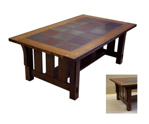 hand crafted tile top coffee tablerb woodworking | custommade