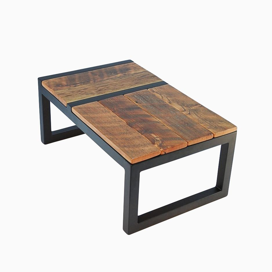 rustic modern barnwood domino coffee table