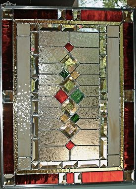 Custom Made Traditional Stained Glass WindowPanel by