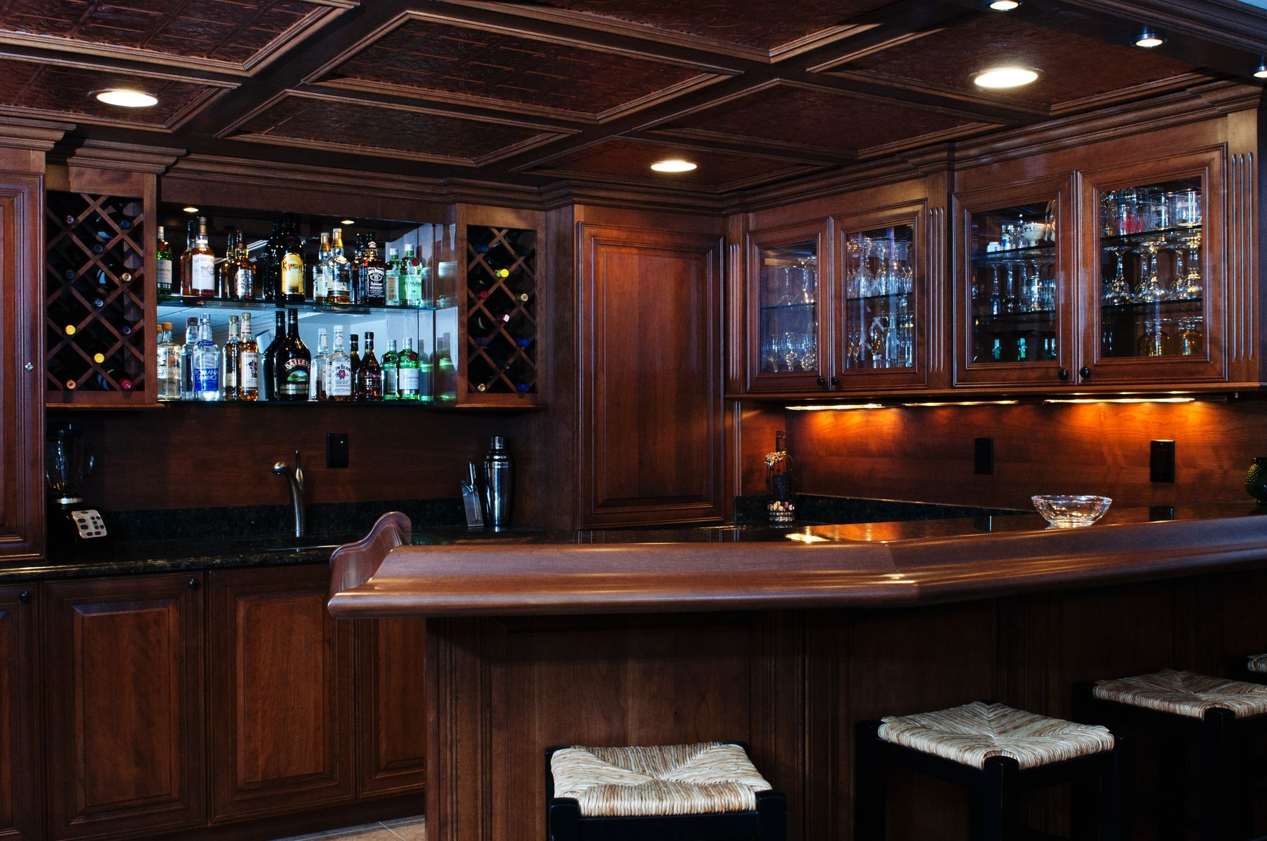 Hand Crafted Basement Bar by Custom Wood Creations  CustomMadecom