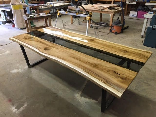 Live Edge Poplar Table