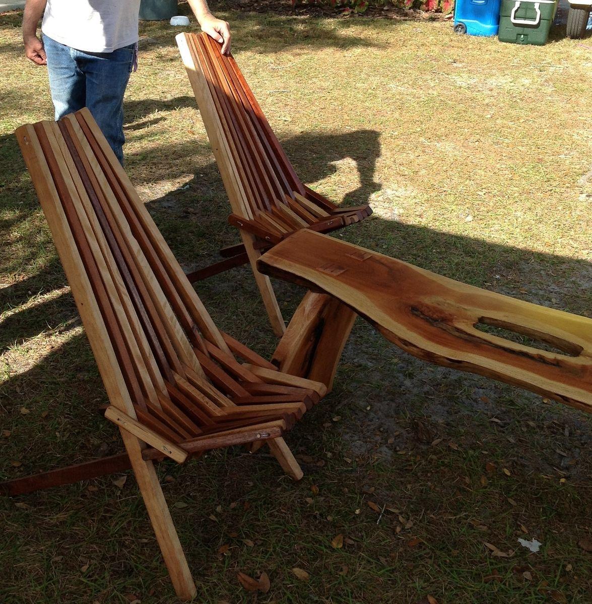 Custom IndoorOutdoor Wooden Slat Chair by Natures