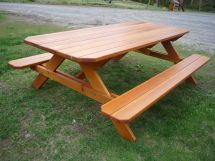 Hand Crafted Picnic Table Stratton Custom Woodworking