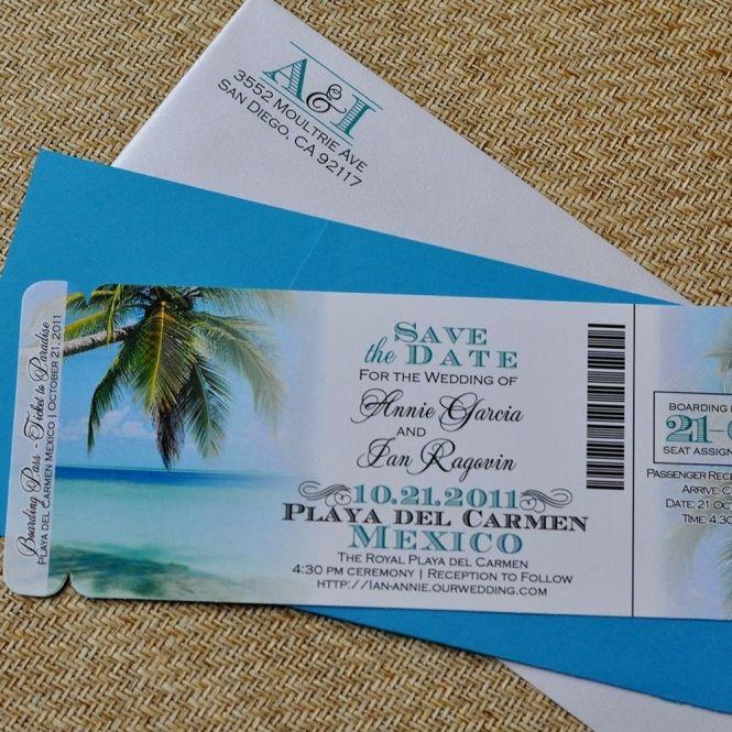 Custom Design Fee Boarding Pass Invitation Or Save The