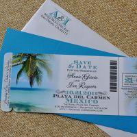 Custom Design Fee - Boarding Pass Invitation Or Save The ...