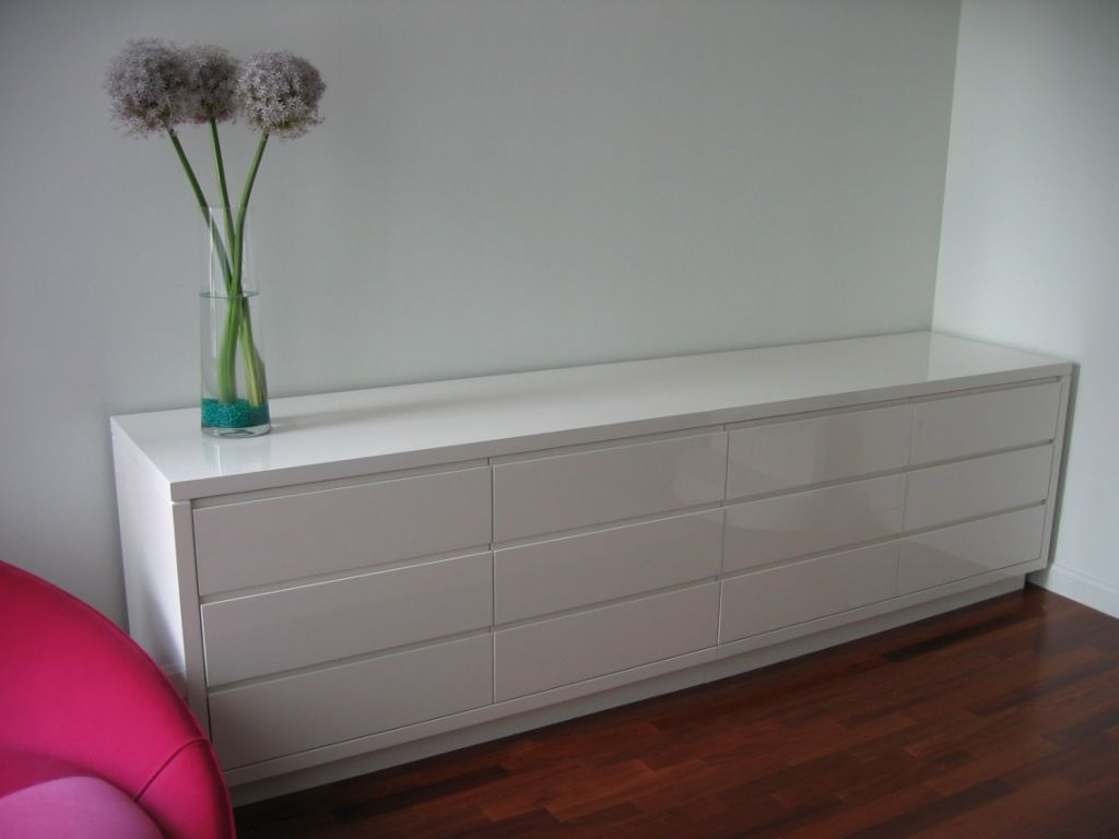 Hand Crafted White Lacquer Dresser by Ks Furniture And Design  CustomMadecom