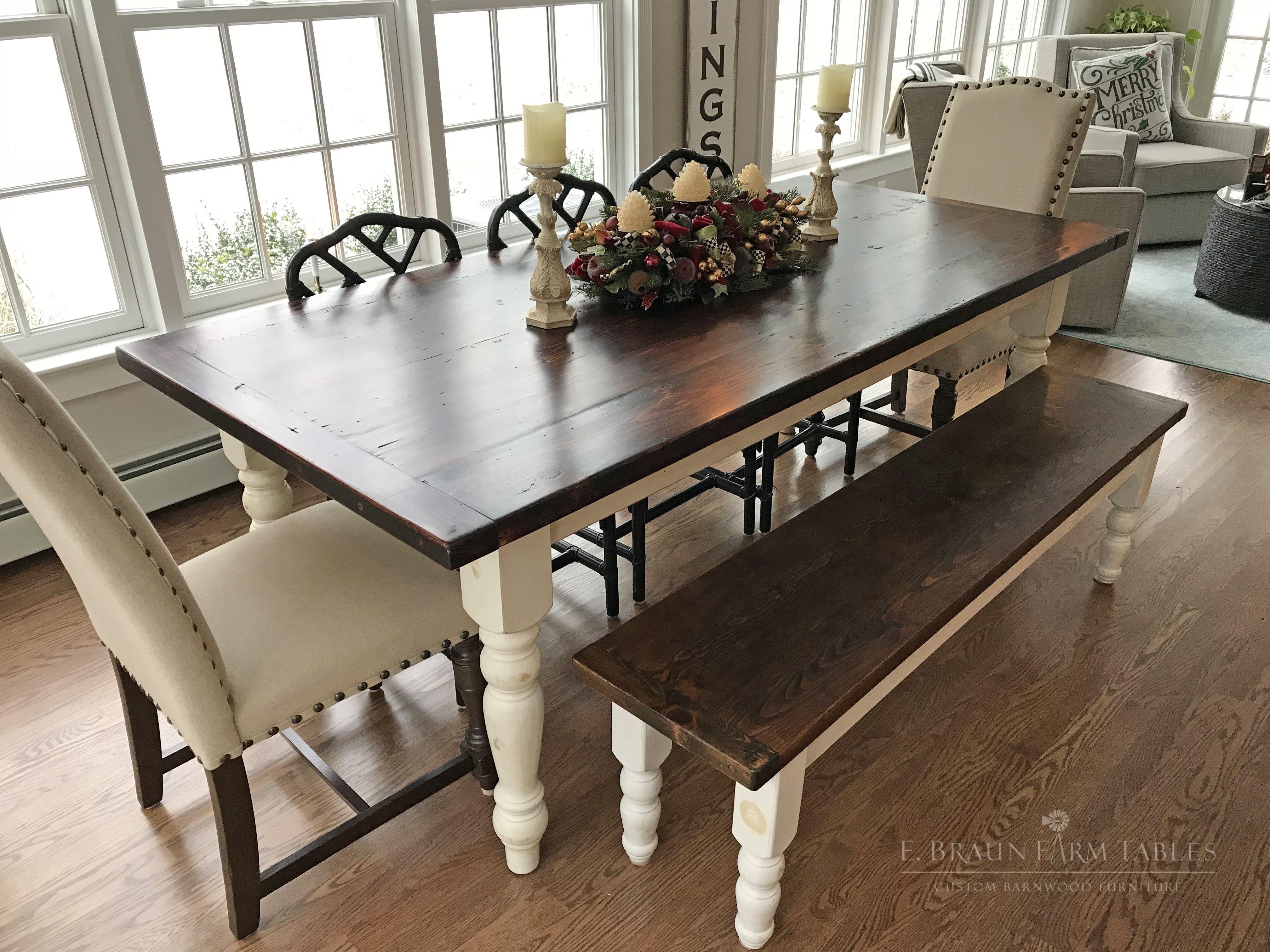 Handmade Farmhouse Table Authentic Reclaimed Barn Wood By